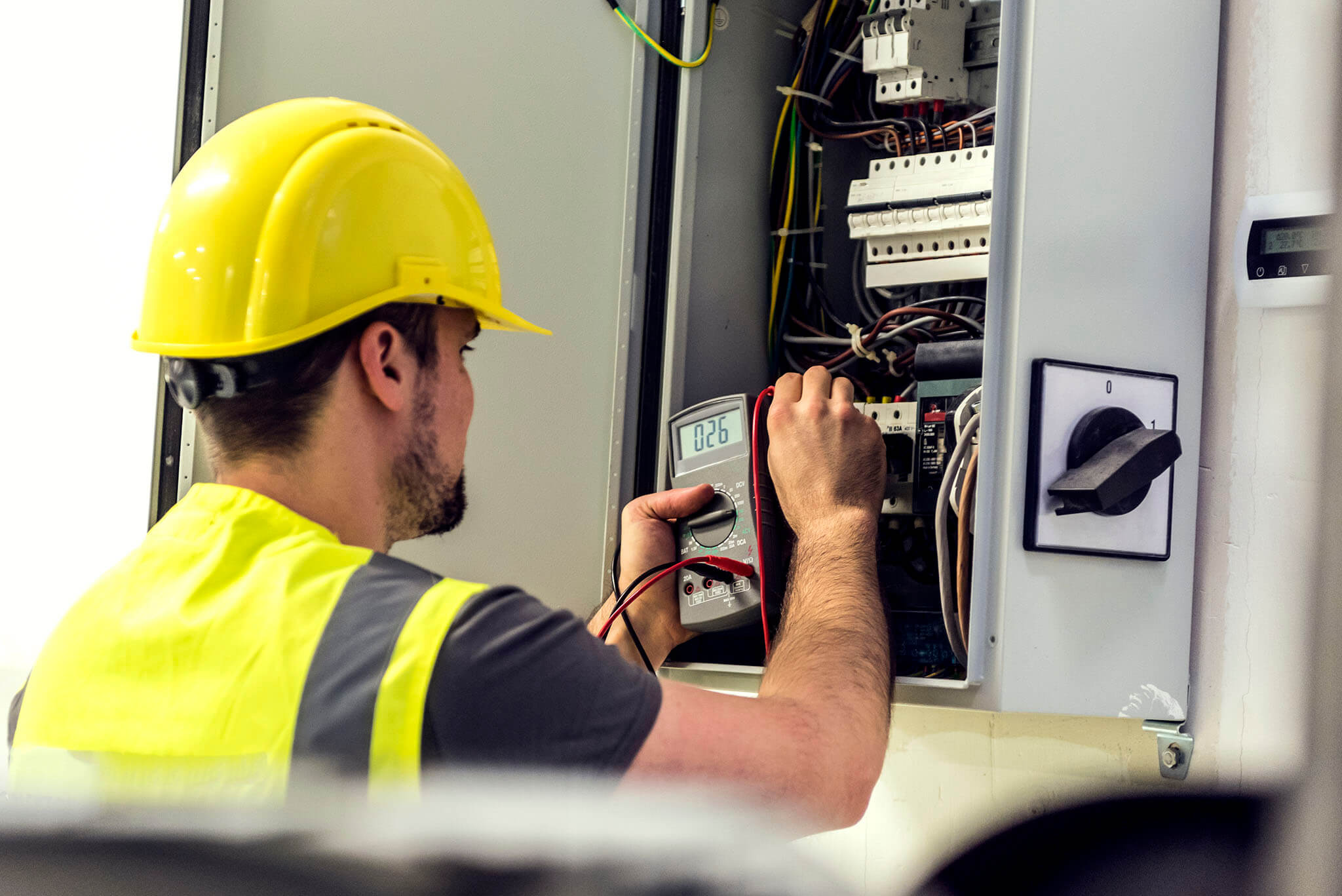 Industrial Control Systems - electrician engineer worker